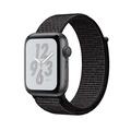Apple Nike+ S4 GPS 40mm太空灰色鋁金屬錶殼搭配黑色Nike運動型錶環