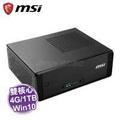 MSI Cubi 3 Plus-004TW-1TB 迷你電腦 /黑【G3930/4G/1TB+32G/WiFi/W10/主機3年保、硬碟2年保】