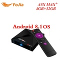 RK3328 A5X Max Plus Android 8.1 TV Box 4G/16G 32GB 2.4G/5G Dual WiFi 1000M Optional BT4.1 A5X Max + set top box Media Player