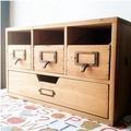果果家 杉木製桌面zakka收納櫃 抽屜 原木實木櫃 整理櫃 舊木櫃
