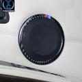 老款寶馬BMW3系e90 X1改裝320i325i內飾碳纖維喇叭裝飾圈車門音響圈
