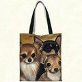 Fiddlers Elbow t903 Chihuahua Canvas Tote