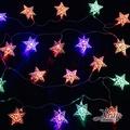 X射線【X411519】20燈LED鐵五角星電池燈(四彩),聖誕樹/LED/聖誕燈飾/造型燈/聖誕佈置/裝飾燈/聖誕樹