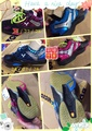 (羽球世家) 勝利Victor SH S80 SD F 非洲斑馬條紋 速度型羽球鞋 黑藍色 24cm 27cm 28cm