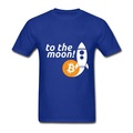 Bitcoin To The Moon Crewneck Short Sleeve Hot Selling