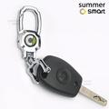賓士 汽車百貨 smart小車配件  09-18款Smart汽車內飾用品 車用鑰匙扣 車標金屬鑰匙掛件 鑰匙鏈