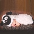 滿月百日宴服裝  針織毛衣套裝 立體山羊造型 兒童攝影服裝 寶寶連身爬服 嬰兒照相衣服