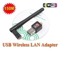 100% Original Mini 150M USB Wireless LAN Wireless Networking Networking Card LAN Adapter + Antenna Computer Accessory + Software Driver / Mini 150M USB WiFi Wireless Network Networking Card LAN Adapte