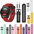 26mm Width Watch Strap for Garmin Fenix 3 Band Outdoor Sport Silicone Watchband for Garmin Fenix 3HR/Fenix 5X with tools