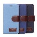 蘋果iPhone6 4.7吋保護套 牛仔布紋支架插卡皮套 APPLE iPhone 6 側翻手機保護殼【預購】