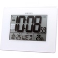 Seiko QHL057W QHL057WN Digital Large LCD Display Alarm Desktop Calendar Clock