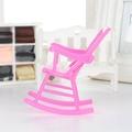 เก้าอี้โยกเก้าอี้ตุ๊กตาอุปกรณ์บาร์บี้ MINI DIY ตุ๊กตาพลาสติกตกแต่งสำหรับบ้านตุ๊กตาบาร์บี้
