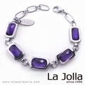La Jolla 蕭邦5號戀曲 純鈦鍺手鍊(紫水晶)
