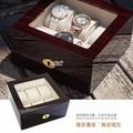 │完全計時│手錶收藏盒【6只入】鋼琴烤漆原木手錶收藏盒 咖啡木紋(鋼琴01-2)禮物 現貨 超值