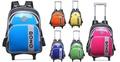~雪黛屋~DEZO 拉桿背包16寸外出行李箱短程旅行書包超輕防水特多龍+鏡面耐磨耐髒好保養三用功能 KDE3G62
