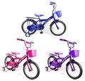 EMC 附前籃、後貨架 王牌兒童腳踏車(藍、紫、粉)【德芳保健藥妝】