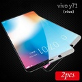 For VIVO Y71 Tempered Glass full Screen Protector film for VIVO Y71 screen cover Glass (Black)(2 Pieces)