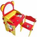 @小櫻桃嬰兒用品@kikimmy--童話熊畫板書桌椅組 兒童書桌椅