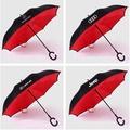 現貨  汽車反向傘 C型免持手柄 雙層傘 男士商務傘 雙層高爾夫傘 太陽傘 遮雨遮陽傘 雨傘 賓士/奧迪/保時捷/保時捷