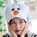 美麗大街【106010815】雪寶 造型連帽U型靠枕 頸枕 午睡枕