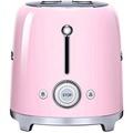 Smeg TSF02PKUS 50s Retro Style Aesthetic 4 Slice Toaster, Pink - intl