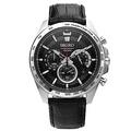 SEIKO 都市型男三眼視距儀石英皮帶腕錶(SSB305P1)黑-/44mm