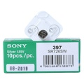 Sony 397 SR726SW 1PACK X (10PCS) Silver 1.55V Watch battery Made in Japan