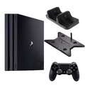 PS4 Pro 7218 1TB-主機黑+第二手-黑ZCT2G+slim/pro主機雙用直立架-黑KJH-ps4slim-pro+DOBE手把充電座