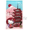 〔小禮堂〕Hello Kitty 日製長門簾《粉.富士山.撐傘.紅和服》85x150cm