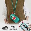 【哐花村】小怪 掛脖 觸控手機包 手機袋 手機套 出遊 適用5.5吋以下手機藍色