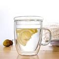 【U+Life】耐熱雙層咖啡杯 玻璃杯 雙層玻璃杯 隔熱杯 玻璃蓋 馬克杯 星巴克 保溫杯