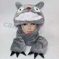 龍貓開口毛絨圍巾連體帽子90CM