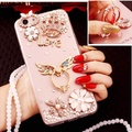 Fashion Glitter Diamond Girl Soft TPU Case for OPPO R9S OPPO F3 Plus Protective Case for oppo r9s + Pearl Lanyard - intl