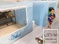 เต็นท์แอร์ มุ้งแอร์ รูใหญ่ หน้าต่างใหญ่ สำหรับแอร์ตั้ง 6000-12000 บีทียู เก็บความเย็น ขนาด 6 ฟุต portable air conditioner cooling tent