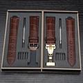 歐寶特手錶帶真皮男女款蝴蝶釦針扣配件適用於ck浪琴卡西歐天梭dw