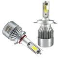 汽車LED大燈改裝9012H1H4H7H11超亮聚光遠近光通用前車燈強光燈泡 英雄聯盟