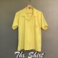 เสื้อฮาวายสีพื้น เสื้อเหลือง ใส่เที่ยว ใส่ทำงาน