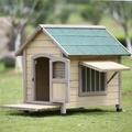狗屋戶外室內防水可拆洗實木狗屋金毛泰迪大型犬中型犬小型犬狗窩 數碼人生