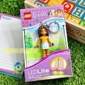 [正版]LEGO樂高鑰匙圈 樂高 Friends Andrea 樂高女孩 人偶LED 鑰匙圈鎖圈 COCOS LG288