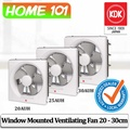 KDK Window Mount Exhaust / Ventilation Fan 20/25/30cm 20AUH/25AUH/30AUH