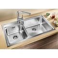 [Sink + Mixer] Blanco Naya 9 Stainless Steel Sink Polish + Blanco Mili J Sink Mixer