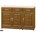 【台北家福】(FB300-2)樟木色實木4尺碗盤櫃/電器櫃組家具