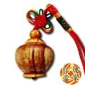 【紅運當家】血龍木巧雕 招財迷你聚寶盆 吊飾掛飾