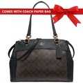 Coach Shoulder Crossbody Bag Large Brooke Carryall Handbag Brown / Black # F26140 + Gift Receipt