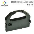 【NEXTPAGE 台灣榮工】EPSON LQ2550/2500/670/680/680C-S015016 黑色相容色帶 1組3入(S015536)