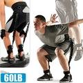 60磅LATEX乳膠彈跳訓練帶(綁腿彈力繩+舉重腰帶)彈力帶拉力繩拉力帶拉力器.擴胸器腳踝美腿機臂力器.運動健身器材.推薦哪裡買C109-1551