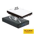 【Delock eSATAp 2.5吋硬碟外接盒 (USB3.1/eSATA)】-5821001