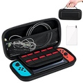 Nintendo Switch Case,Protective Hard Shell Traveler Carrying Case Compatible with Nintendo Switch with Screen Protector and Game Cartridge Holder for Nintendo Switch Console & Accessories - intl