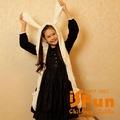 【iSFun】兔耳愛麗絲*羊絨連帽式圍巾/白