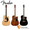 【小新樂器館】FENDER CD-60SCE 可插電41吋 單板民謠吉他 內建調音器 另贈送琴袋【CD60SCE】